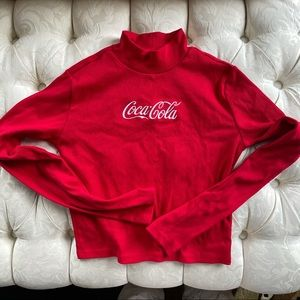 Coca Cola red tunic long sleeves top
